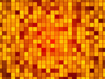 Gold abstract background, particles squares. Red abstract background, particles gold squares Royalty Free Stock Photo