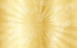 Gold abstract background with rays Royalty Free Stock Photos