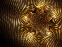 Gold abstract background. Abstract background of gold star shape on black Royalty Free Stock Image