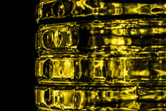 Gold abstract blurred background. Created by light Royalty Free Stock Image