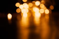 Gold abstract bokeh background -  Christmas  vintage lights back Stock Image