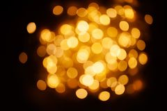 Gold abstract bokeh background -  Christmas  vintage lights back Royalty Free Stock Images