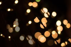 Gold Abstract bokeh Background from small bulbs Royalty Free Stock Photos