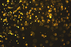 Gold abstract bokeh background of water droplets Stock Image