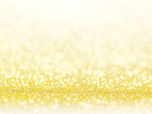 Gold abstract bokeh lights. Royalty Free Stock Photography