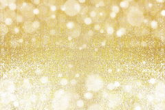 Gold abstract bokeh lights royalty free stock photos