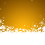 Gold abstract Christmas background Royalty Free Stock Images