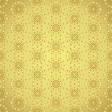Gold Abstract Circle and Rhomboid Pattern on Pastel Background Stock Image