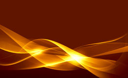 Gold abstract composition. Of delicate lines Royalty Free Stock Photo