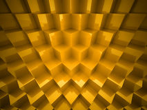 Gold abstract cubes background Royalty Free Stock Photos