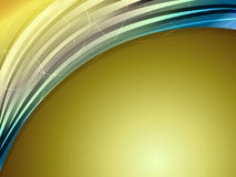 Gold abstract curve background Royalty Free Stock Photography