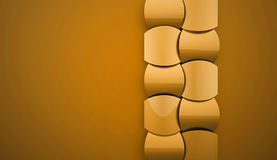 Gold abstract decorative background Stock Image
