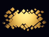 Gold abstract geometric background from cubes. 3d render. Ing Stock Photography