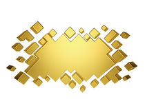 Gold abstract geometric background from cubes. 3d render Royalty Free Stock Photography