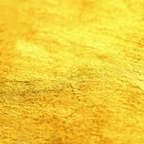 Gold Abstract hand painted golden stain background with golden f Royalty Free Stock Photo