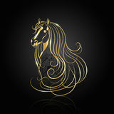 Gold abstract horse Royalty Free Stock Photography