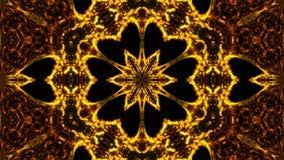 Gold abstract kaleidoscope background. Digital illustration Stock Image