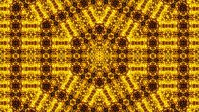 Gold abstract kaleidoscope background. Digital illustration Stock Photography