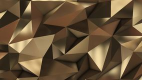 Gold abstract low poly triangle field. 4k stock video
