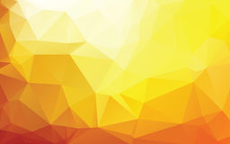 Gold Abstract Low Poly Vector Background Stock Photo