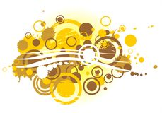 Gold abstract pattern Royalty Free Stock Image