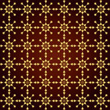 Gold Abstract Star and Circle Pattern on Pastel Background. Gold Circle and triangle and arrow pattern on pastel background. Sweet and modern seamless pattern Royalty Free Stock Image