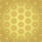 Gold Abstract Star Flower Seamless Pattern on Pastel Background Royalty Free Stock Photo
