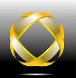 Gold abstract symbol Royalty Free Stock Image