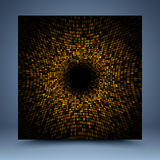 Gold geometric mosaic abstract background Stock Image