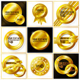 Gold abstract vector set of backgrounds for your. Design. EPS 10 Royalty Free Stock Images