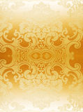 Gold abstract wallpaper. Background with flowers Stock Image