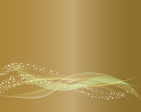 Gold Abstract Wave Line Background. Gold Abstract Wave Line and Sparkle Background Royalty Free Stock Photography