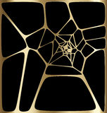 Gold abstract web background Stock Photos