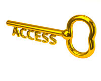 Gold access key Stock Photo
