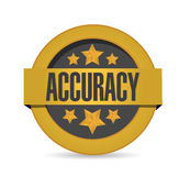 Gold accuracy seal stamp illustration Royalty Free Stock Photos