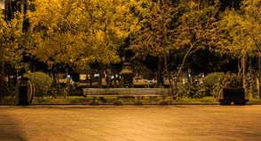 Gold accurate Baku Boulevard royalty free stock photography