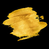 Gold acrylic paint. Vector illustration Stock Photos
