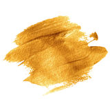 Gold acrylic paint. Vector illustration royalty free illustration