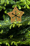 Gold Advent, Christmas ornament Royalty Free Stock Photography