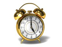 Gold alarm Royalty Free Stock Photos