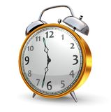 Gold Alarm Clock Royalty Free Stock Images