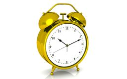 Gold alarm clock Royalty Free Stock Photo