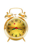 Gold alarm clock Stock Photos