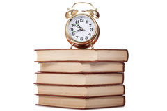 Gold alarm clock Royalty Free Stock Photos