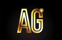 gold alphabet άργυρος επιστολών ένα σχέδιο εικονιδίων συνδυασμού λογότυπων γ Στοκ εικόνες με δικαίωμα ελεύθερης χρήσης
