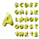 Gold Alphabet Stock Images