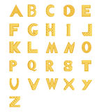 The gold alphabet Stock Image