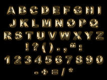 Gold alphabet Stock Photos