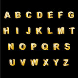 Gold Alphabet 3D Letters Stock Photography