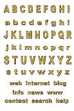 Gold alphabet Royalty Free Stock Photos